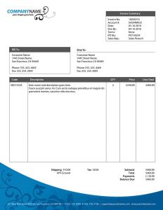 Invoice corporate identity vector