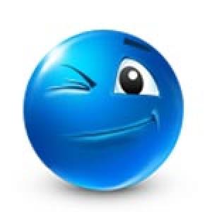 Blue emoticon model