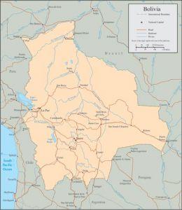 Bolivia vector map