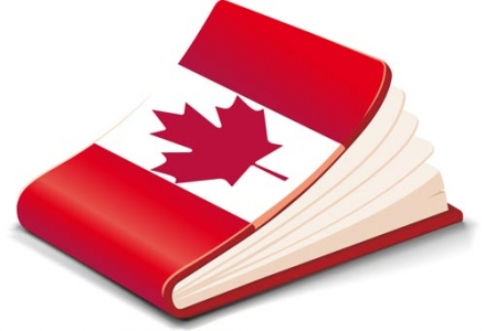 Book covered in flag
