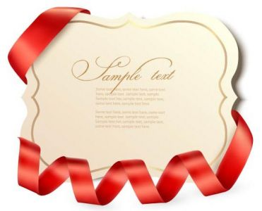 Bows and ribbons on vector cards