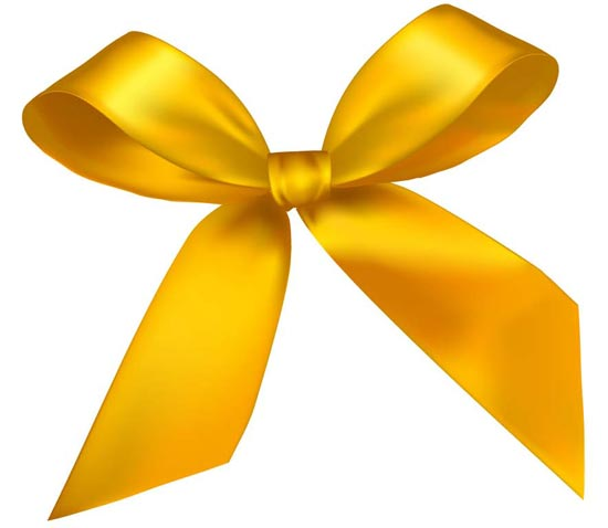 Yellow Bow Png Yellow Bow Vector Design