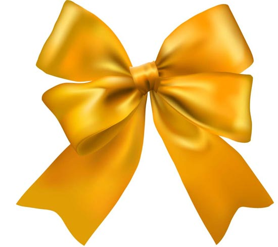 Yellow Bow Png Yellow Bow Vector Template