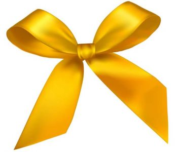 Yellow bow vector design