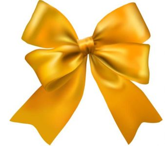Yellow bow vector template