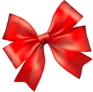 Red bow vector template