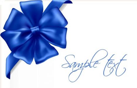 Blue ribbon vector design