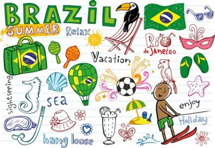 Brazil world cup vector sketches