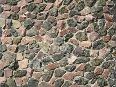 Bricks and stone background texture