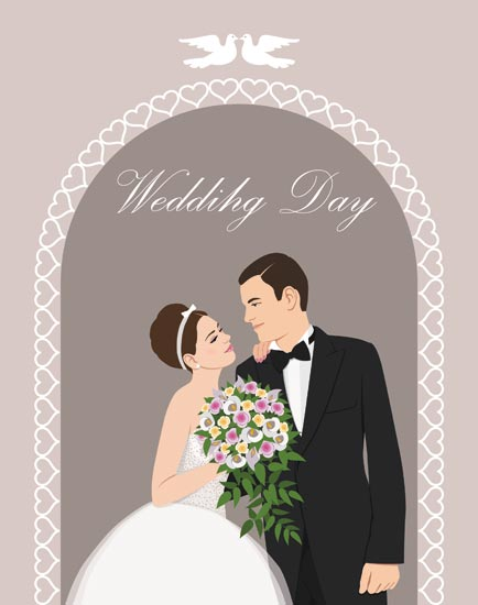 Bride and groom wedding invitation vectors bride and groom wedding invitation vector stopboris Images