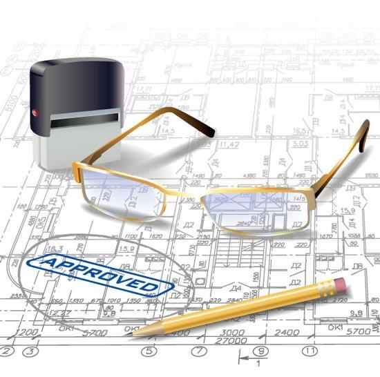 plan drawings vector