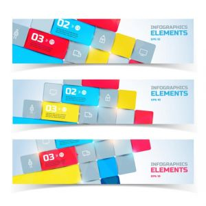 Abstract business banners set