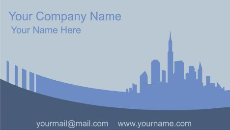 City business cards vector