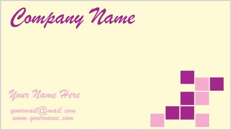 Light business cards vector