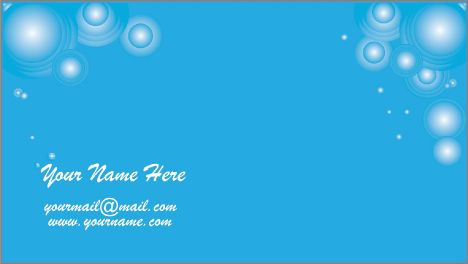 Blue business cards vector