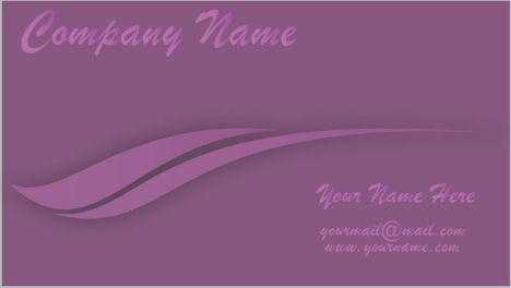 Purple business cards vector