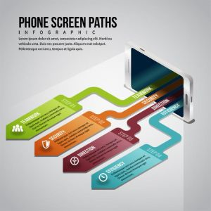 Phone Screen Paths Infographic