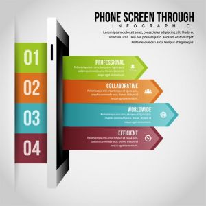 Phone Screen Through Infographic