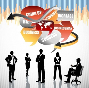Business flyer design vector