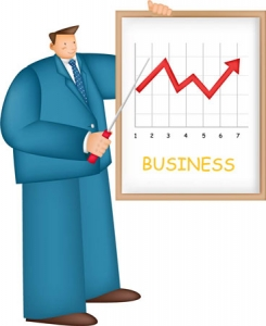 Business man clipart vector