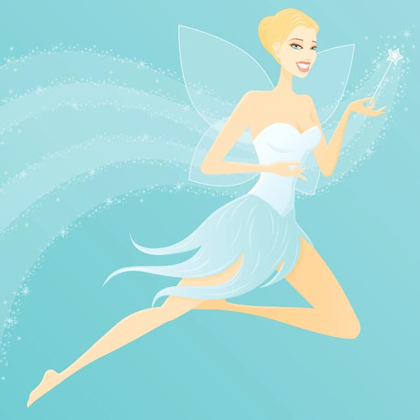 Fairy princess vector cartoon