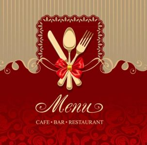 Cafe bar restaurant menu template