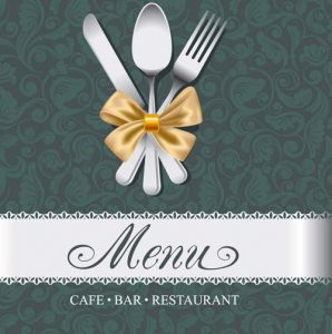 Cafe bar restaurant menu design