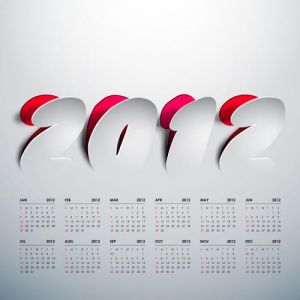 2012 Calendar sticker vector