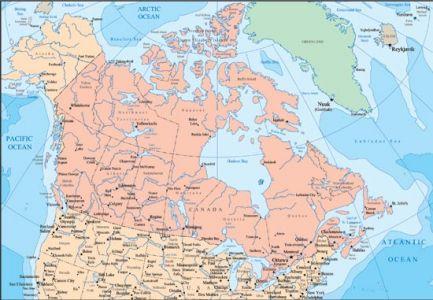 Canada vector maps