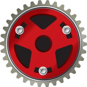 Car gear parts vector