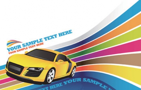 Car vector banner