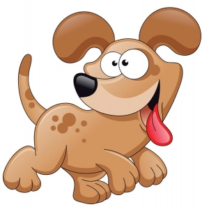 Cartoon dog character vector