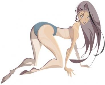 Cartoon girl design