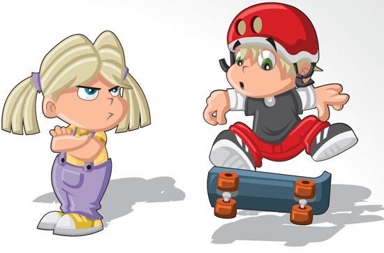 cartoon kids and old people character vector5 - Kids Cartoon Picture