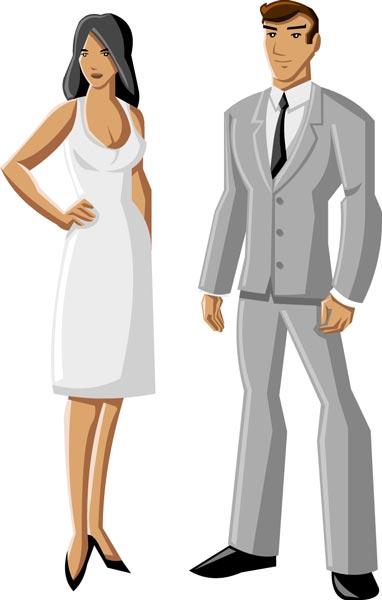 Cartoon Characters Clothes : Cartoon people characters vector collar