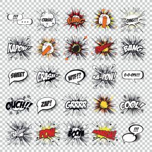 Cartoon pop art vector comics