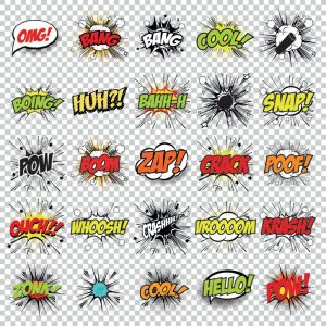 Cartoon pop art vector comics