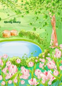 Cartoon spring vector