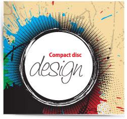 Grunge CD music cover vector