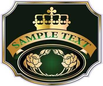 Champagne label design