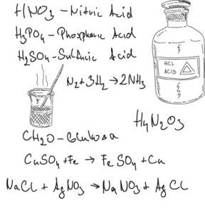 Chemistry experiments and equation writting vectors