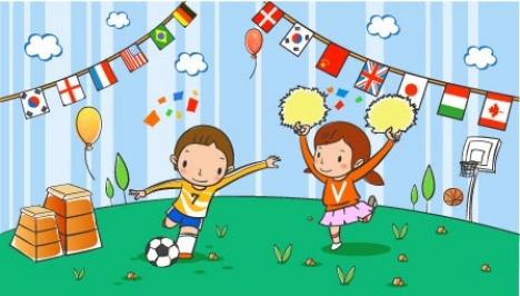 Children illustration for drawing