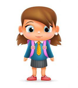 Realistic School Girl Child Cartoon Education Character 3d Icon Design Isolated Vector Illustrator,Realistic School Girl Child Cartoon Education Character 3d Icon Design Isolated Vector Illustrator