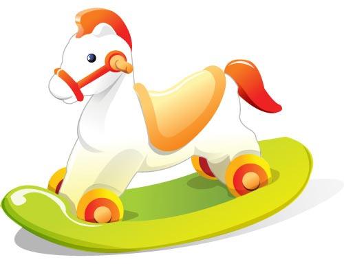 Children toys vector cliparts