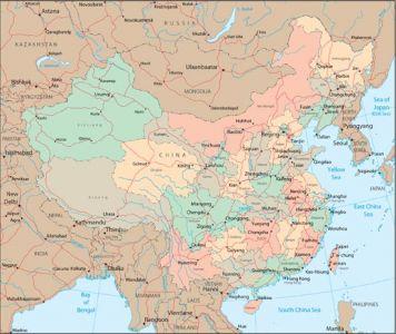 China vector maps