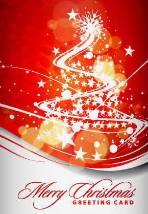 Christmas greetings vector card model