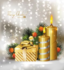 Christmas illustration card vector