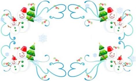 Christmas vector border