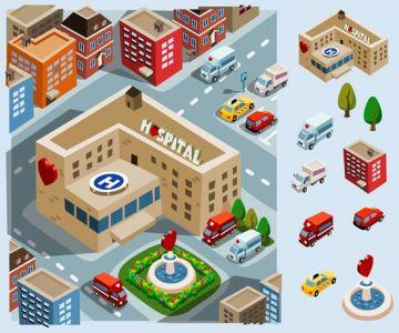 Hospital Area vector