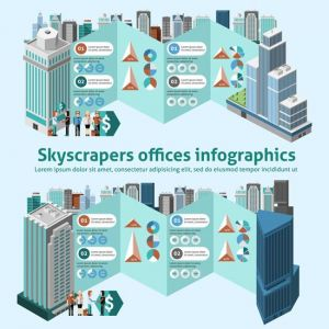 Skyscraper Offices Infographics